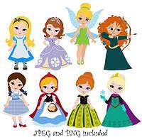 Принцессы 8  Вафельная картинка