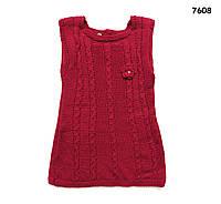 Вязаное платье для девочки. 2 года