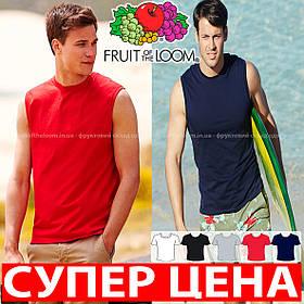 Мужская футболка без рукавов 100% хлопок 61-222-0