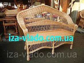 """Диван плетений з лози """"Крапля"""" 2-місний, фото 3"""