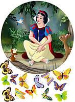 Принцессы 36  Вафельная картинка