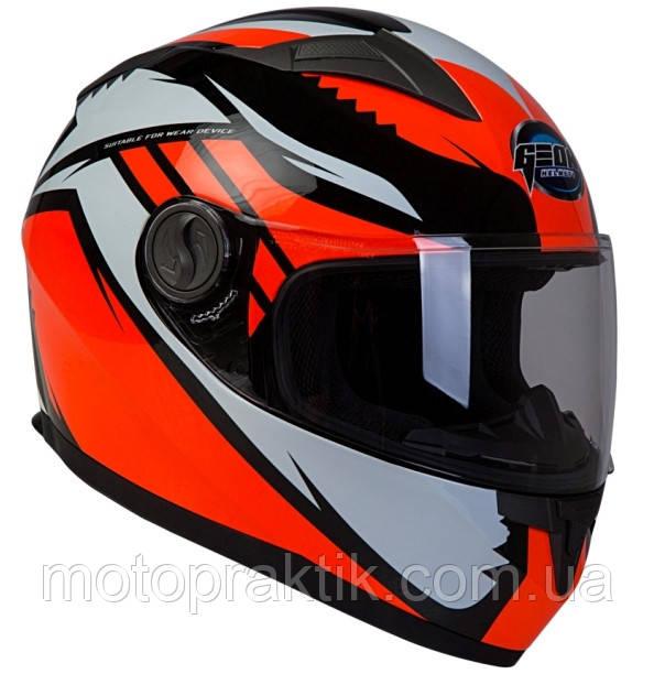 GEON 968 Race Black-Orange - XS, Мотошлем интеграл