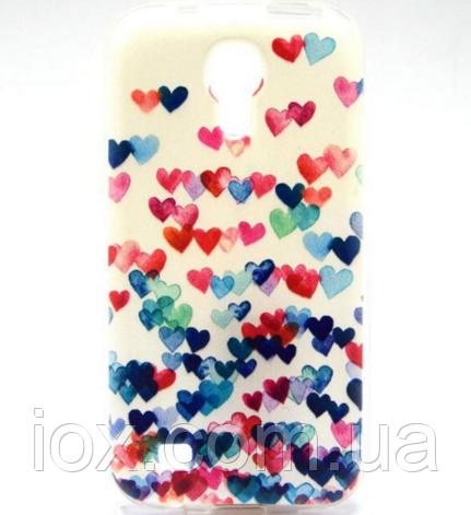 """Чехол силиконовый """"Сердца"""" для Samsung Galaxy S4 mini"""
