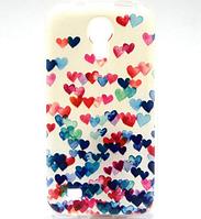 """Чехол силиконовый """"Сердца"""" для Samsung Galaxy S4 mini, фото 1"""