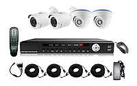 Комплект видеонаблюдение, 4 камеры и видеорегистратор AHD качество