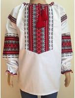 Детская вышиванка  для девочки 134-158 см, лен