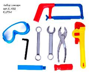 Набор инструментов Юный Слесарь, 9 деталей