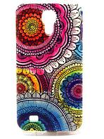 """Чехол силиконовый """"Разноцветные цветы-узоры"""" для Samsung Galaxy S4 mini"""