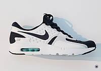 Мужские кроссовки найк Nike Air Max Zero бело-черного цвета
