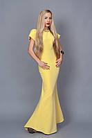 Ультрамодное летнее платье длинное в пол рукава-воланы