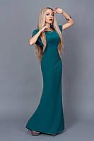 Дизайнерское вечернее платье фасона рыбка с роскошным украшением