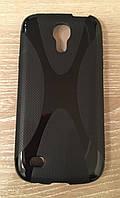 """Чехол черный силиконовый """"X-линия"""" для Samsung Galaxy S4 mini"""