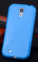 Силиконовый голубой чехол для Samsung Galaxy S4 mini