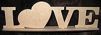 """Свадебный декор  """"LOVE"""" на подставке 1"""