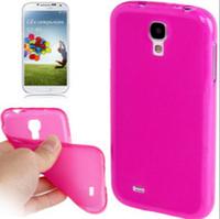 Силиконовый малиновый чехол для Samsung Galaxy S4 mini