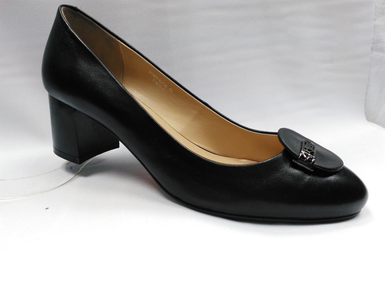 Туфли кожаные Erisses на устойчивом невысоком каблуке,  большие размеры