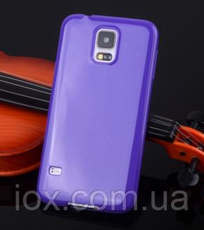Силиконовый фиолетовый чехол для Samsung Galaxy S5