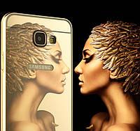 """SAMSUNG A710 A7 2016 GALAXY металлический зеркальный хромированный чехол бампер корпус для телефона """"STES"""""""