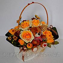 """Подарок из конфет """"Чайные розы"""", фото 2"""