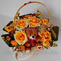 """Подарок из конфет """"Чайные розы"""", фото 3"""