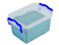 Кинетический песок WABA Fun синий 1 кг в контейнере