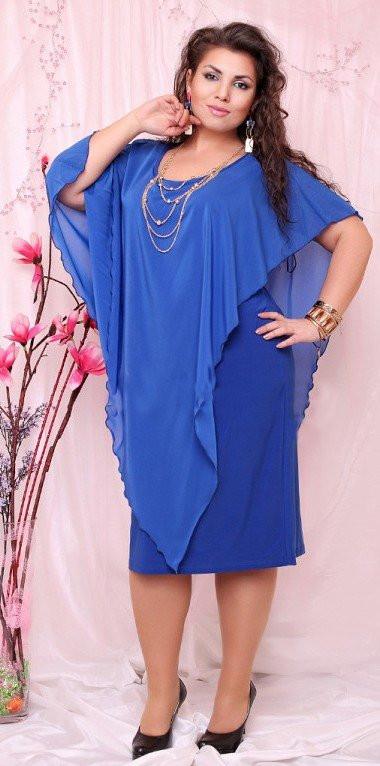 Платье шифон+масло размеры 46-60