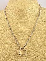 Серебристый кулон Кольцо на цепочке