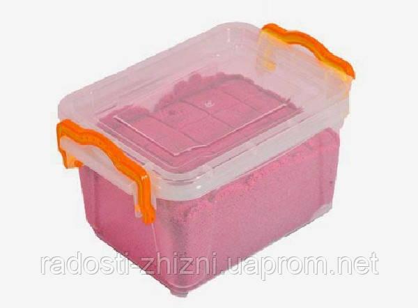 Кинетический песок WABA Fun красный 1 кг в контейнере