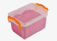 Кинетический песок WABA Fun красный 1 кг в контейнере , фото 1
