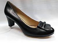 Туфли кожаные Erisses на устойчивом  каблуке,  большие размеры