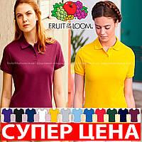 Женская футболка поло 65/35 Fruit of the loom 63-212-0