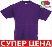 Детская футболка для мальчиков 100 хлопок свободная Цвет Фиолетовый Размер 14-15 61-033-PE 14-15