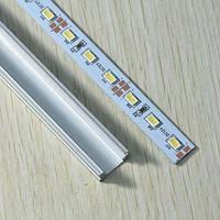 Светодиодная лента Premium SMD 5630/72 12V 3500K IP20 1м на алюминиевой подложке в профиле Код.56456