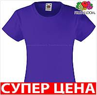 Детская футболка для девочек классическая хлопок Цвет Фиолетовый Размер 3-4 61-005-PE 3-4