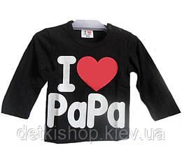 Реглан «I Love Papa» (чёрный)