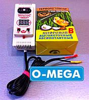 Терморегулятор цифровой ЛИНА+В ТЦИ-1000 с влагомером плавно затухающий для инкубатора
