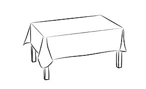 Скатерть для стола 190х140см, однотонная белая, фото 3