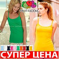 Женская футболка на бретельках стрейчевая ткань 61-024-0
