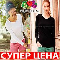 Женская футболка с длинным рукавом 100% хлопок 61-404-0