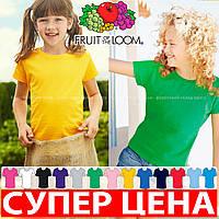Детская футболка для девочек классическая хлопок 61-005-0