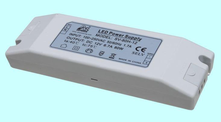 Источник питания SV-80H-12 12вольт 80вт IP20 7383