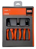 Набор изолированного инструмента: Бокорезы, плоскогубцы с плоскими и узкими губками 2628 S-180 * 2430 S-200 * 2101S-160, Bahco, 9860S