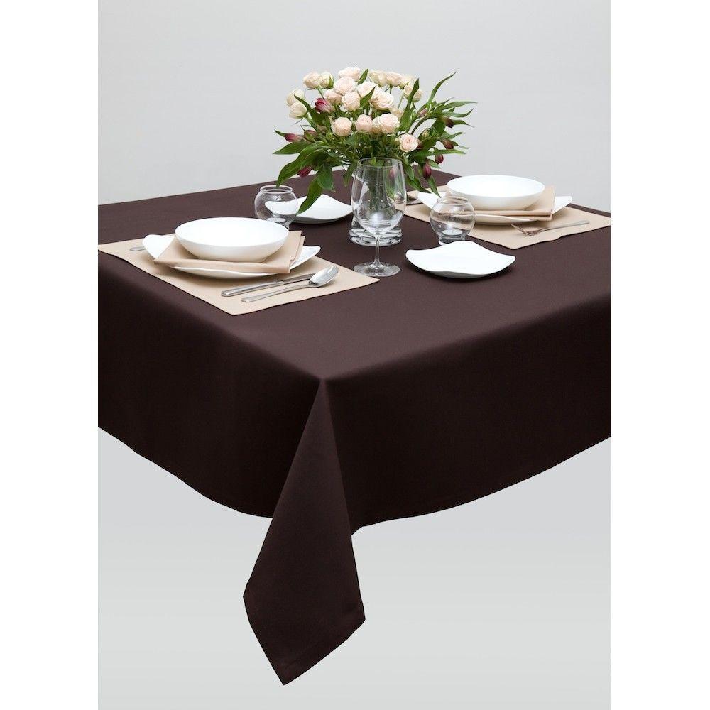 Скатерть для стола 140х140см, однотонная кофе