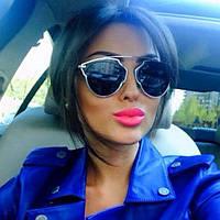 Женские солнцезащитные очки Dior So Real (в серебрянной оправе)