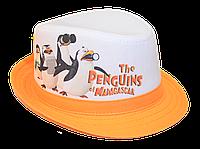 Шляпа детская челентанка фотопринт пингвины