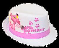 Шляпа детская челентанка фотопринт розовая пантера