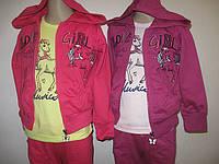 Трикотажный костюм для девочки оптом, размеры 98,  арт. CS-1664