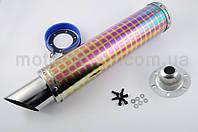 Глушитель (тюнинг)   420*100mm, креп. Ø78mm   (нержавейка, квадраты, прямоток, mod:19)