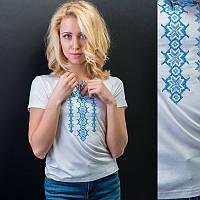 """Жіноча вишита футболка """"Сніжинка"""""""