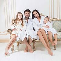 Шикарные махровые халаты GUDINNI для всей семьи.